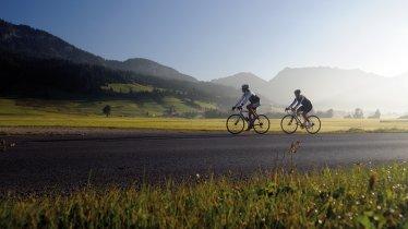 Bici da corsa nella valle Tannheimertal, © TVB Tannheimer Tal