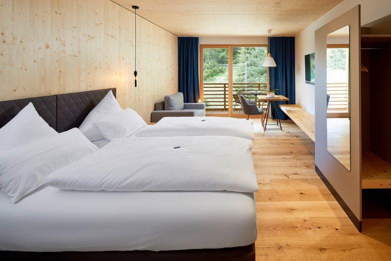 Design moderno all'Hotel LechZeit. Foto: Michael Huber