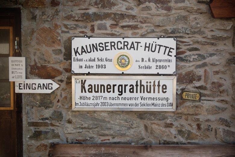 Il rifugio Kaunergrathütte ai piedi della Watzespitze.