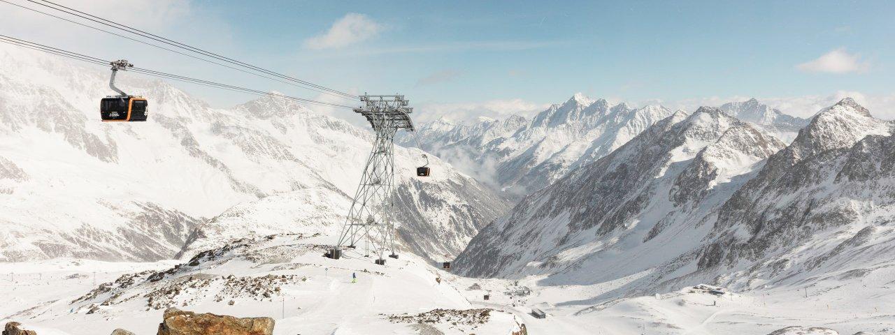 La funivia Eisgratbahn al ghiacciaio dello Stubai, © Tirol Werbung/Gregor Saller