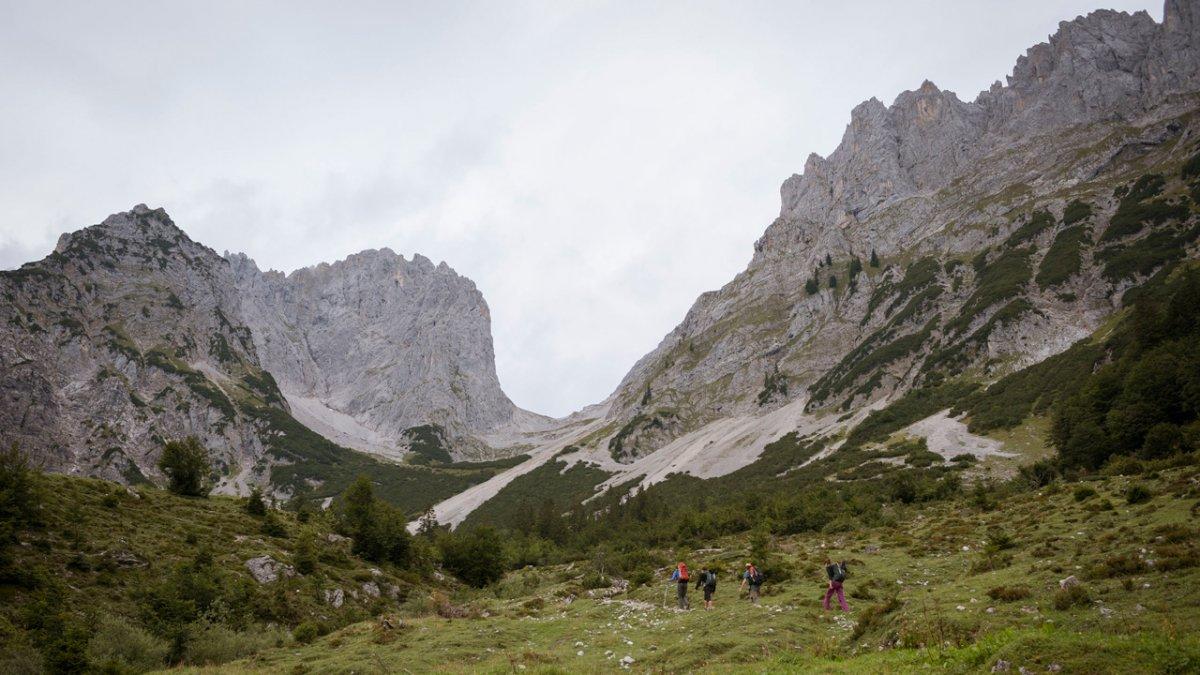 Sentiero dell'aquila: partenza dal Wilder Kaiser, © Tirol Werbung
