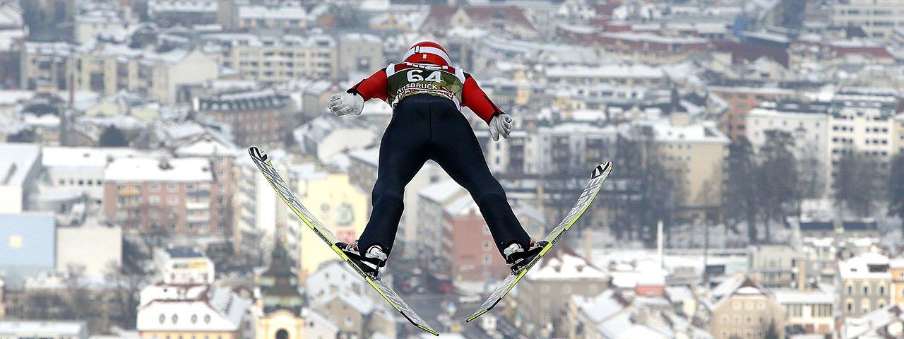 Torneo dei quattro trampolini -  i salti del Bergisel Innsbruck, © Brigitte Waltl-Jensen/OK Vierschanzentournee