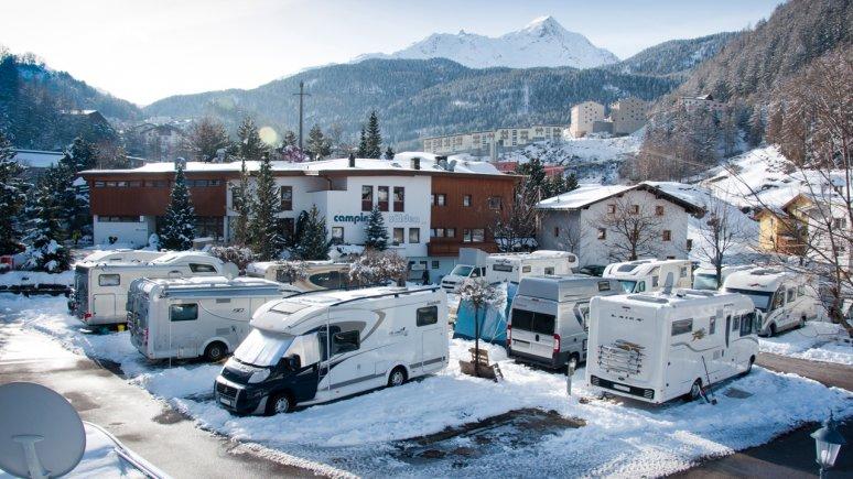 Camping in inverno al Camping Sölden, © Camping Sölden