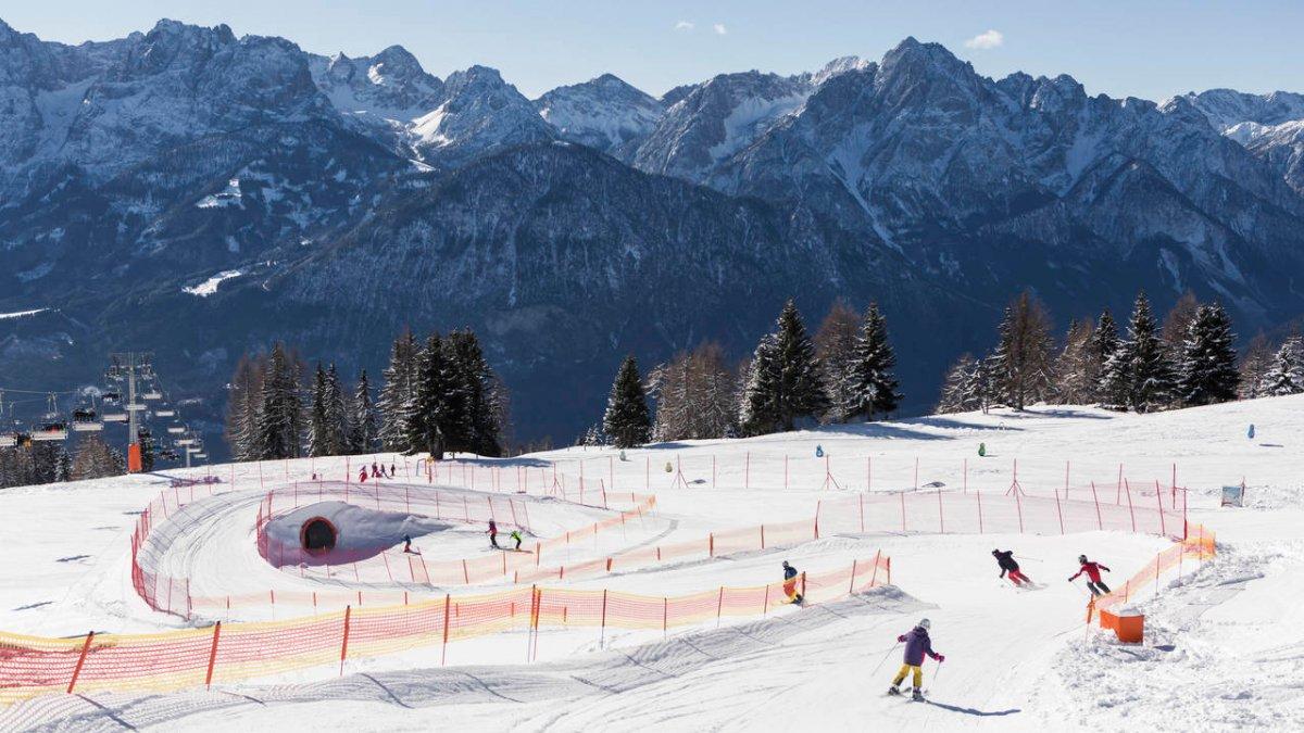 Funslope allo Zettersfeld con vista sulle Dolomiti di Lienz, © Lienzer Bergbahnen/Roland Haschka