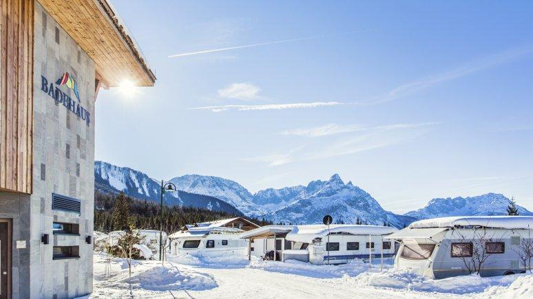 Camping in inverno all'Aktiv & Familienresort Tiroler Zugspitze, © Aktiv & Familienresort Tiroler Zugspitze