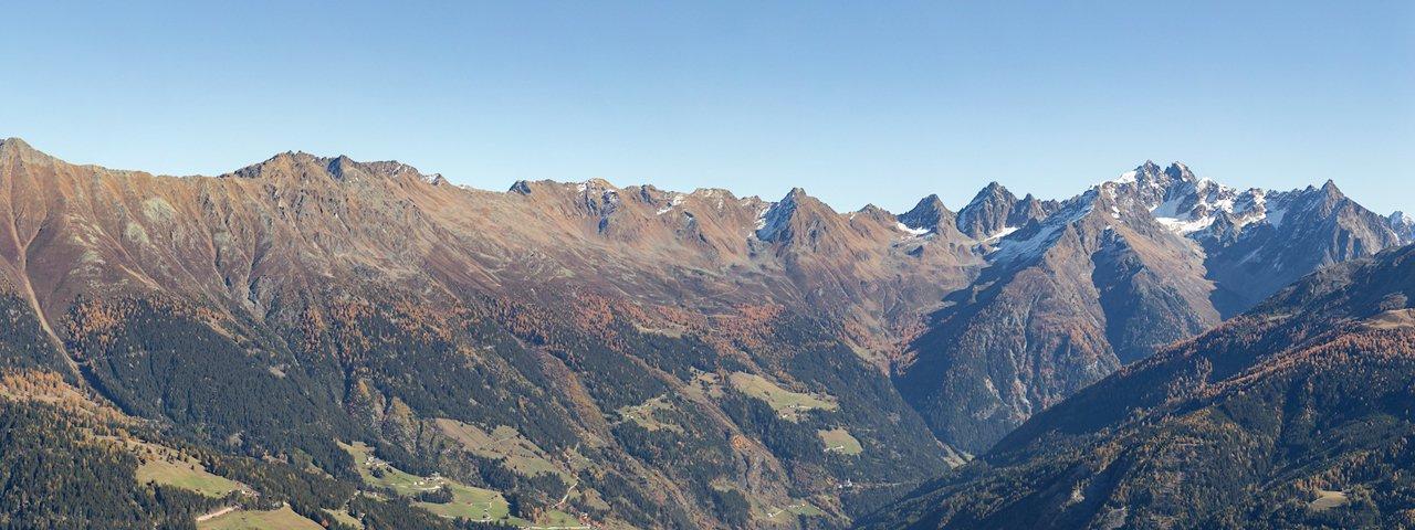 Vista sulla valle Kaunertal, © Naturpark Kaunergrat