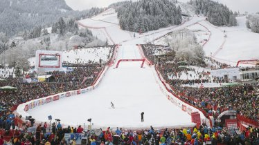 La gara sciistica dell'Hahnenkamm a Kitzbühel, © Tirol Werbung/Jens Schwarz
