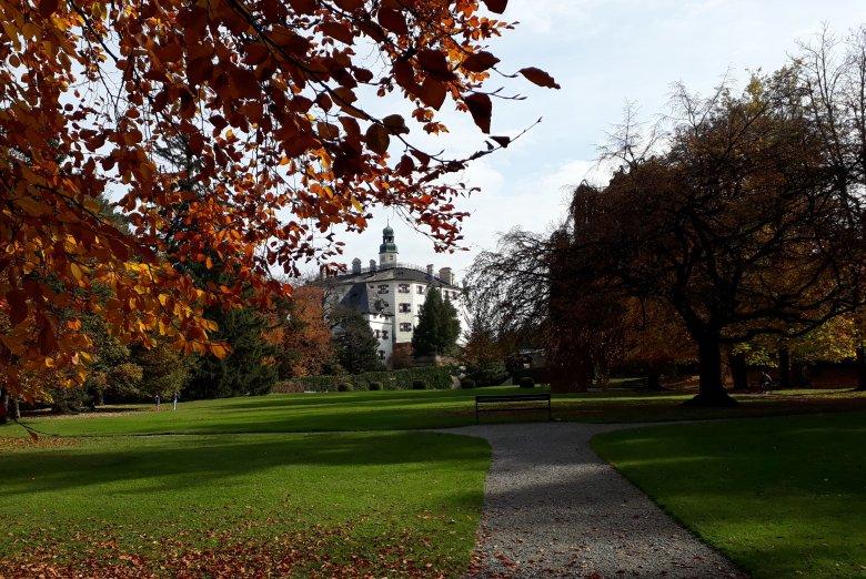 Il parco del Castello di Ambras in autunno