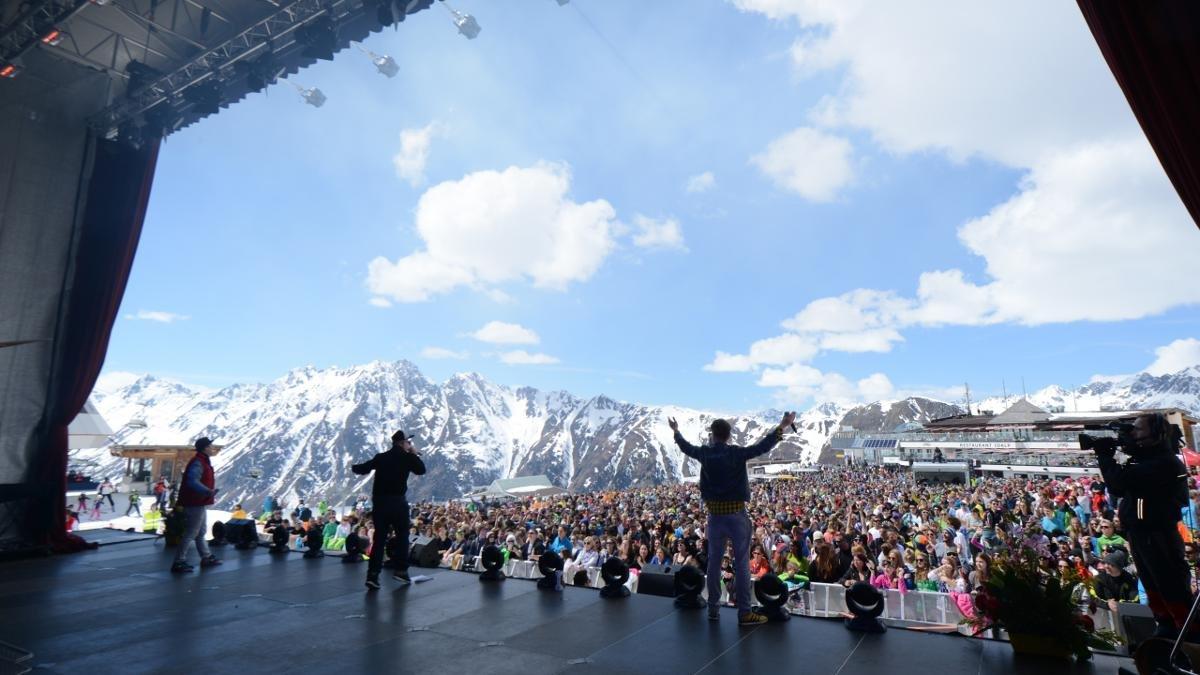 Attraverso diversi concerti pop di fama internazionale Ischgl festeggia nella Silvretta Arena l'inizio e nella Idalpe la fine della stagione invernale., © Paznaun-Ischgl