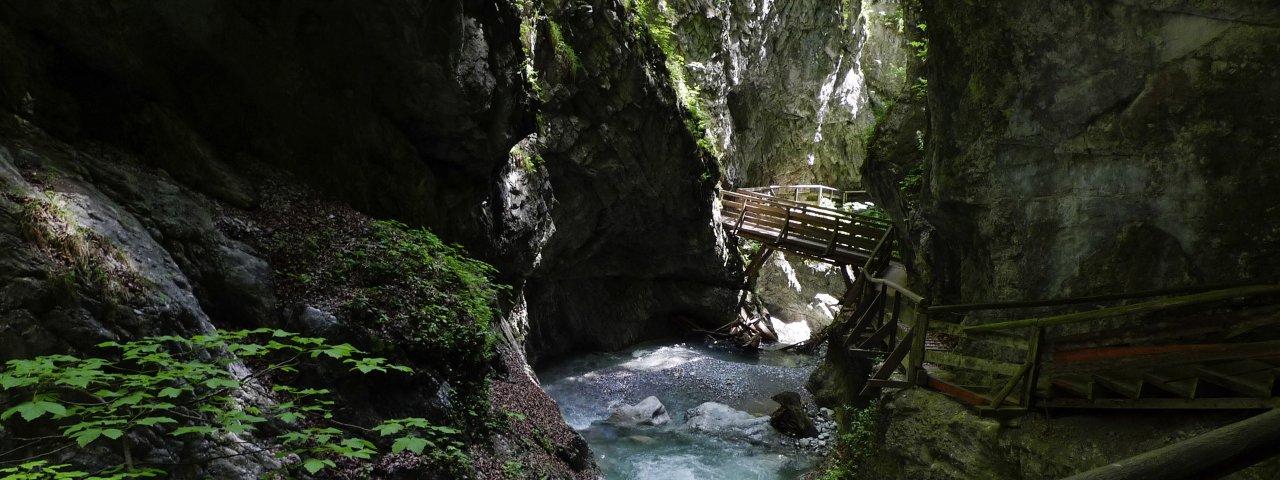 La gola Wolfsklamm vicino a Stans, © Tirol Werbung/Bernhard Aichner