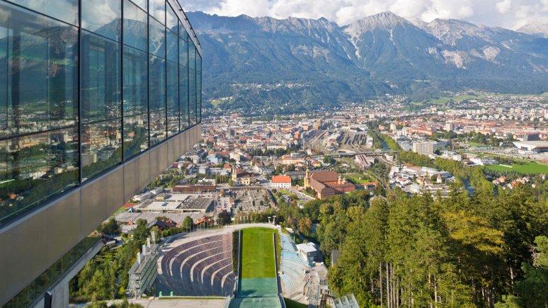 Il trampolino del Bergisel, vista su Innsbruck, © TVB Innsbruck - Christof Lackner