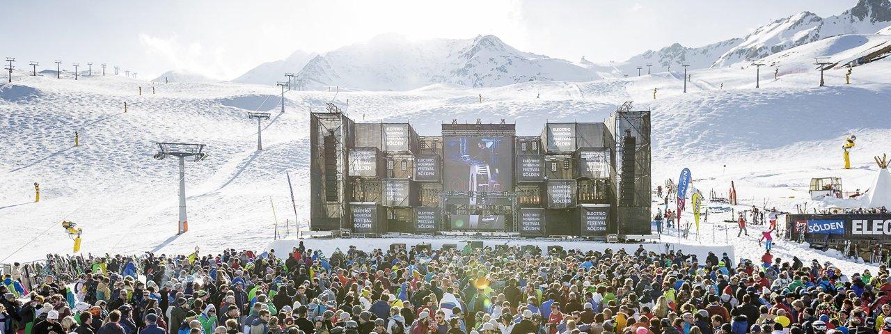 Electric Mountain Festival al Giggijoch nel comprensorio sciistico di Sölden,, © Ötztal Tourismus/Rudi Wyhlidal