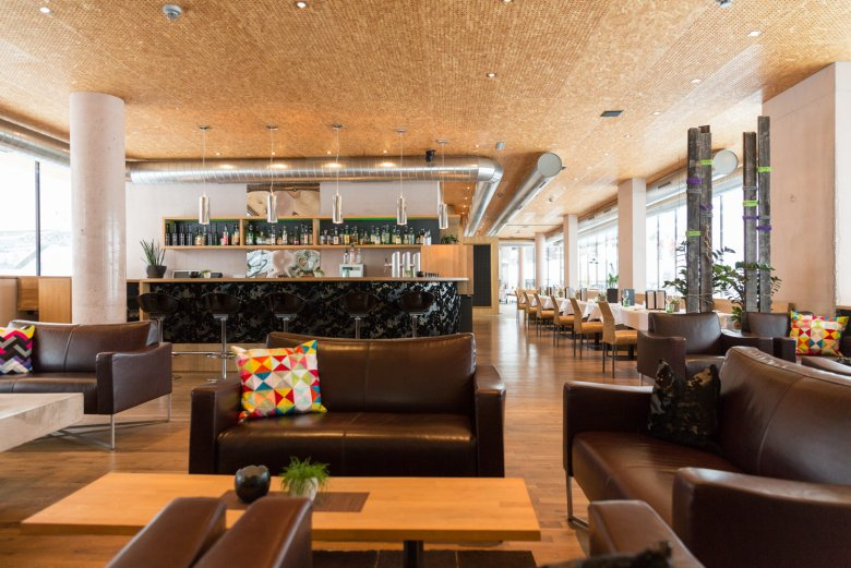 Ambiente moderno nell'Hotel Arlmont.