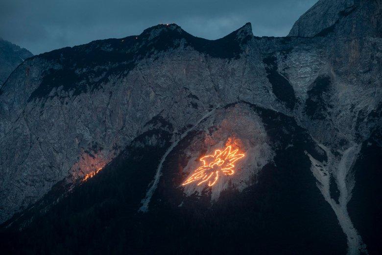 I falò del solstizio: vista sulla Sonnenspitze di Ehrwald