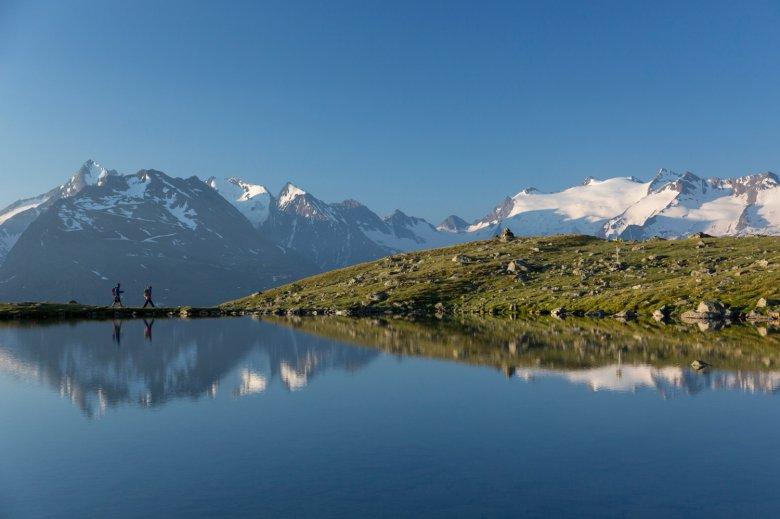 Il giro archeologico passa anche vicino al lago Soomsee. , ©  Ötztal Tourismus, Alexander Lohmann