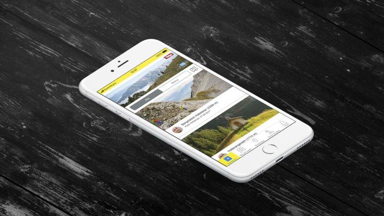 Cartellino digitale per il Sentiero dell'aquila, © SummitLynxApp