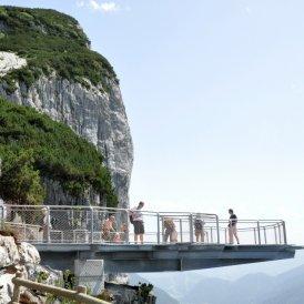 La piattaforma panoramica Steinplatte Waidring, © Manesch