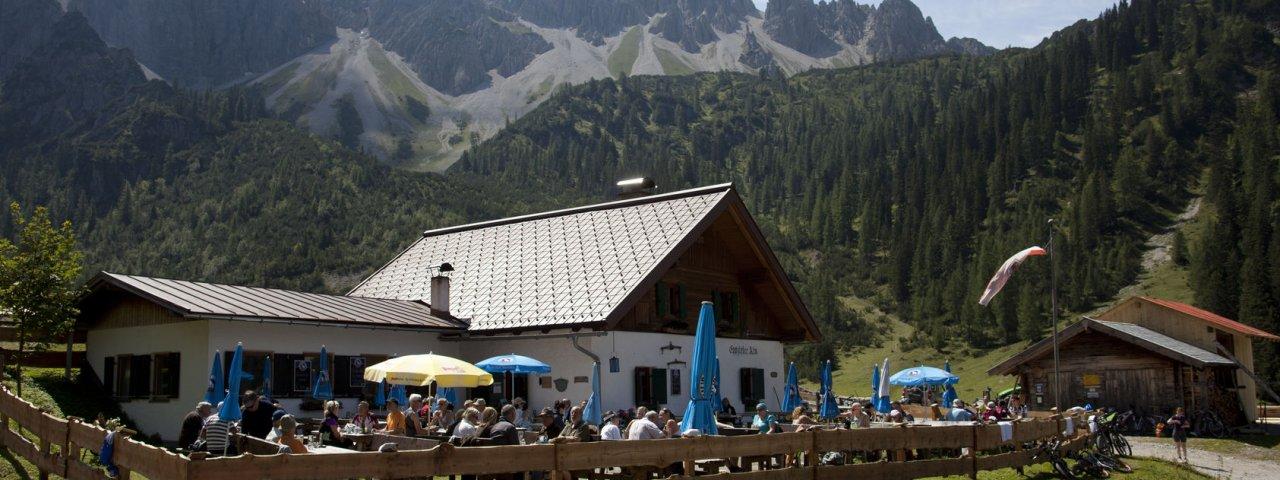 Sentiero dell'aquila, tappa 15: Rifugio Solsteinhaus – Leutasch/Ahrn, © Tirol Werbung / Kranebitter Klaus