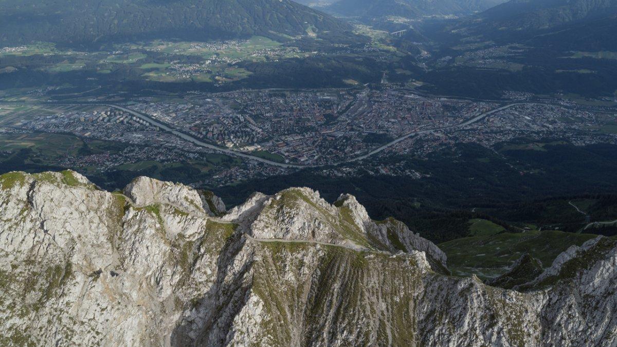Der Goetheweg hoch über Innsbruck