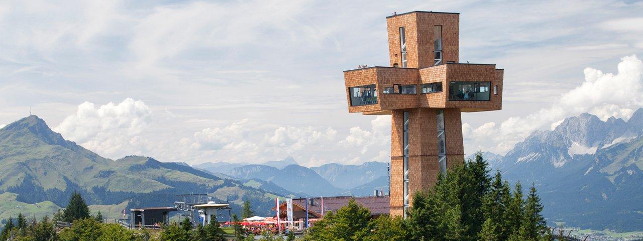 "La croce di San Giacomo ""Jakobskreuz"" nella Pillerseetal, © Bergbahn Pillersee"
