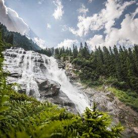 La cascata Grawa Wasserfall, © TVB Stubai Tirol/Andre Schönherr