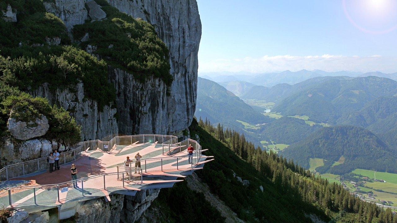 Piattaforma panoramica Triassic Park Waidring , © Foto Oberleitner