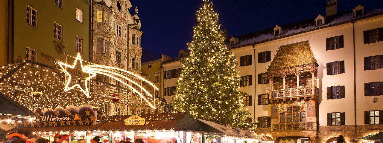 Il mercatino di Natale nel centro storico, © Innsbruck Tourismus/Christoph Lackner