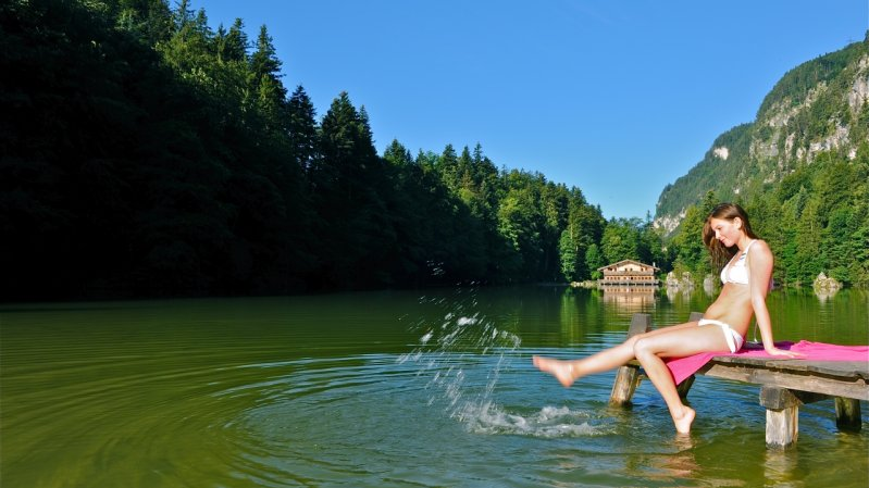 Lago balneabile naturale Berglsteinersee, © Alpbachtal Seenland Tourismus