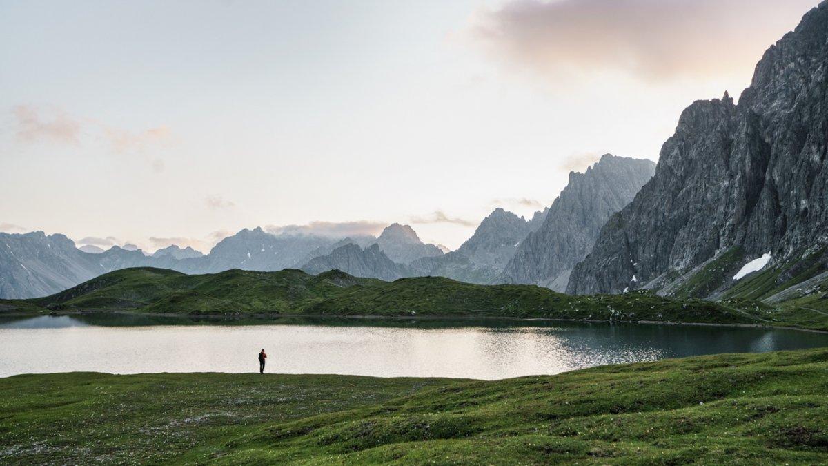 Scende la sera sul lago Steinsee
