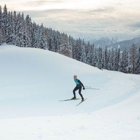 Sci di fondo a Obertilliach, © Tirol Werbung / Katharina Poblotzki