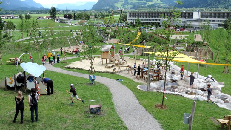 Il parco giochi delle generazioni a Münster , © TVB Alpbachtal Seenland / H. Ledermair
