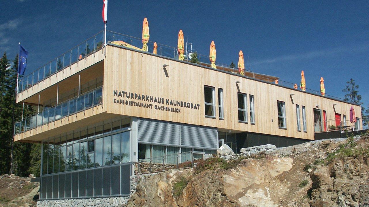 La Casa del parco naturale Kaunergrat al Gachenblick, © TVB Pitztal