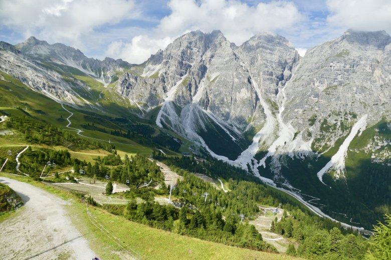 Splendida vista sulla catena di Kalkkögel.