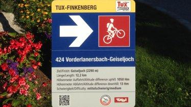 Segnalazione di un tour per la mountainbike, © Tirol Werbung