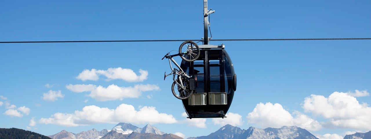 Trasporto della bici, © Tirol Werbung/Maria Ziegelböck