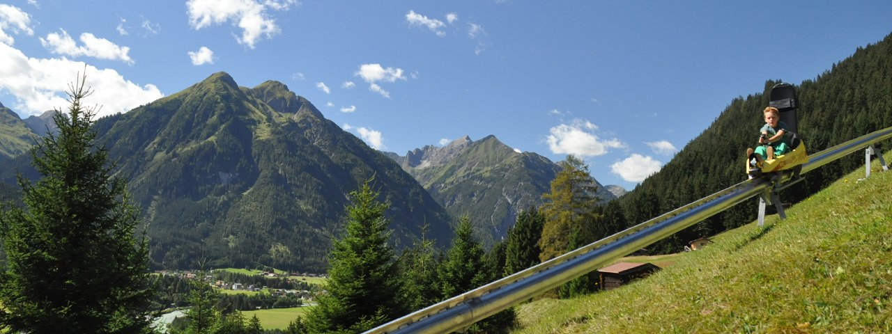 La pista da slittino estiva Wally-Blitz a Elbigenalp nella Lechtal, © Armin Knittel