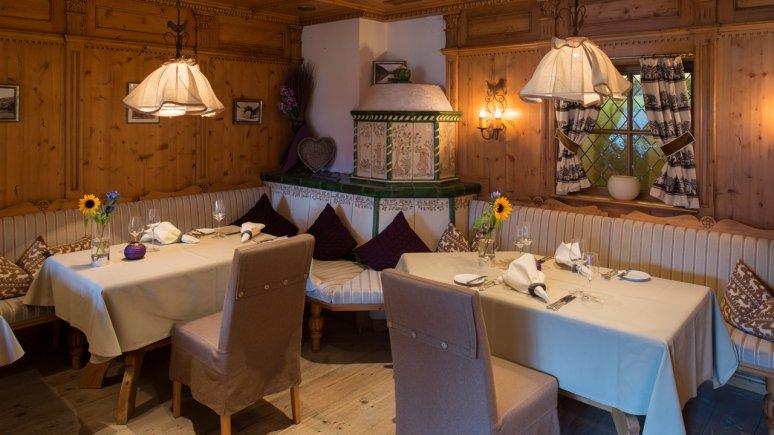 Il ristorante Tannheimer Stube nel Landhotel Hohenfels, © Hohenfels - das Landhotel