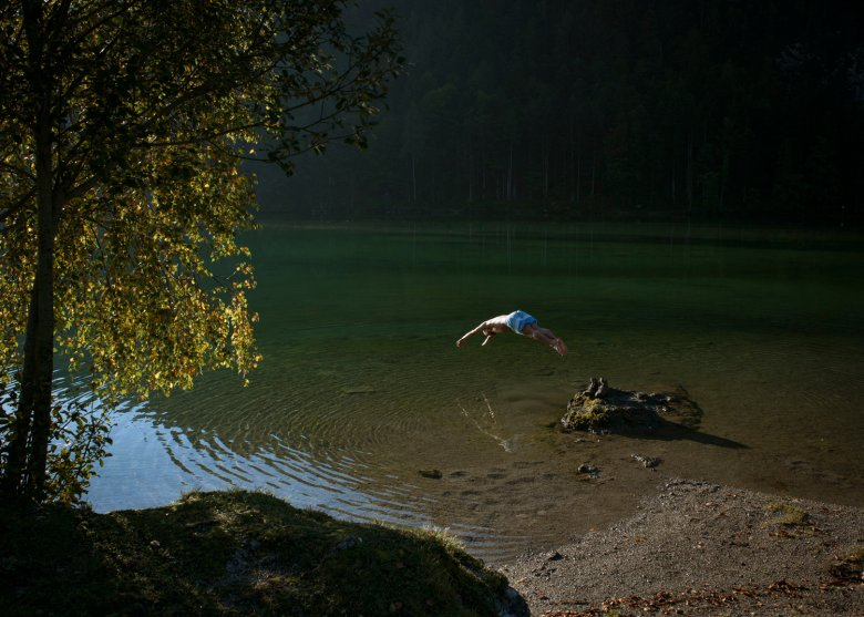 Wild Swimming al lago Hintersteiner See. , © Tirol Werbung, Jens Schwarz