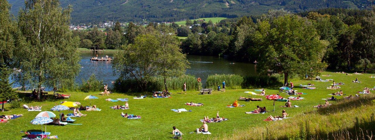 Lago balneabile Lanser See, © Innsbruck Tourismus / Christoph Lackner