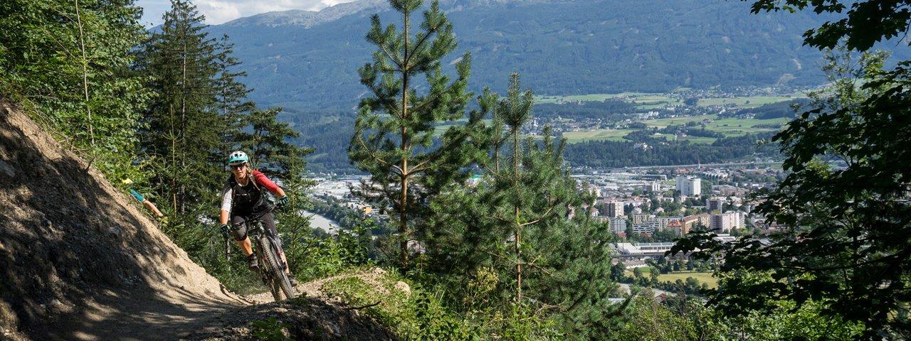 Il trail dell'Arzler Alm, © Tirol Werbung/Peter Neusser