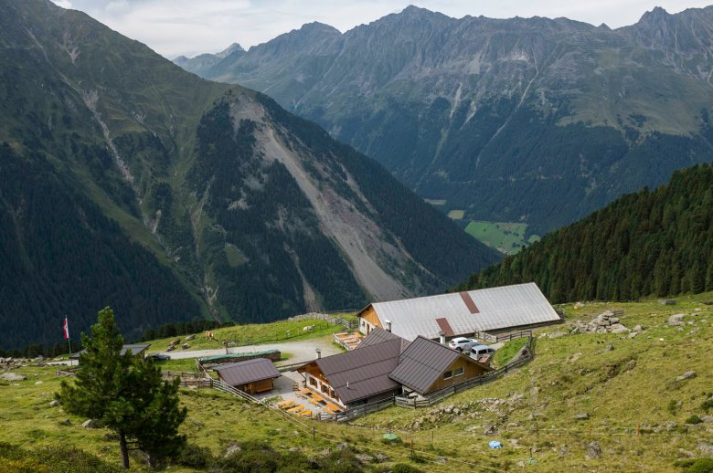 La baita Juifenalm è una delle tante baite nel Sellrain. , © Tirol Werbung , Jörg Koopmann