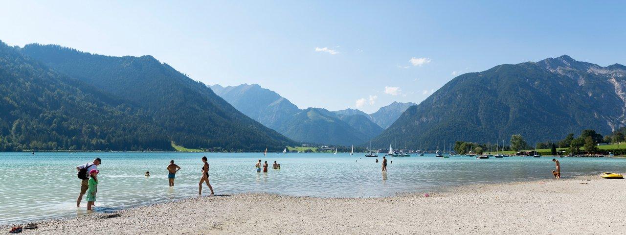 La piaggia a Maurach-Buchau, © Tirol Werbung/W9 Studios