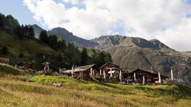 La malga Gampe Thaya nelle Alpi della Ötztal