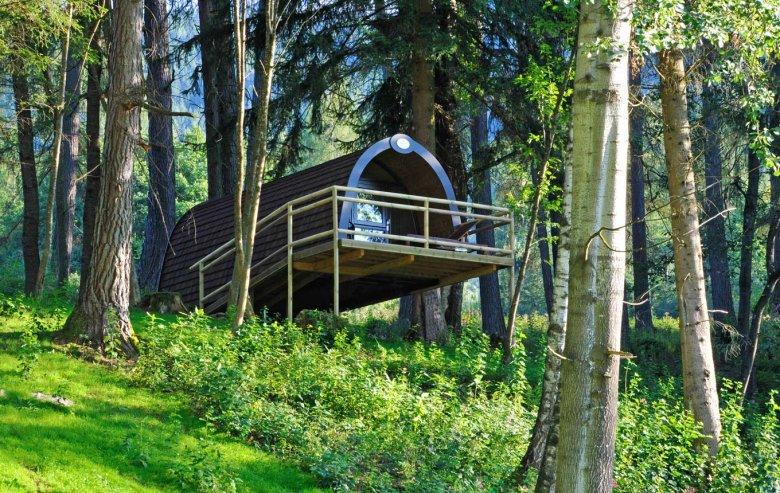 Dormire nella casa sull'albero e sentirsi di nuovo bambino. , © Familienparadies Natterer See
