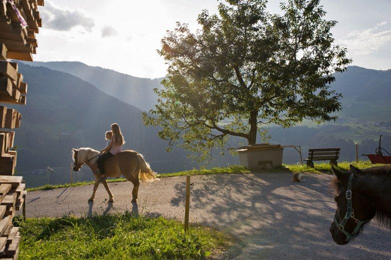 Un'escursione alpina è ancora più divertente a cavallo.
