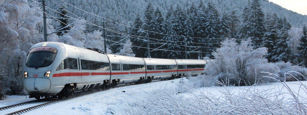 Arrivare in treno, © Tirol Werbung/Johann Kapferer