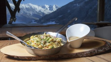 Pasta di malga tirolese con mousse di mele al forno, © Tirol Werbung